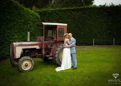 Couple with tractor