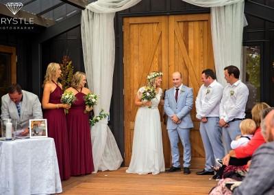 Wedding under pergola